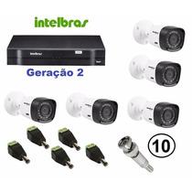 Kit Intelbras Dvr 1008 Geração 2 +2 Câmeras 1010b+conectores