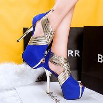 Sapatos De Salto Alto Luxo Cruz Plataforma Sexy Moda 2016 !