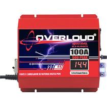 Overloud 100a Fonte Carregador Bateria Voltímetro Bivolt 12v
