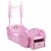 Cama Cuna Convertible Princesas Disney Rosa Y Baul Incluido