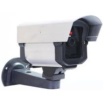 Kit 5 Micro Camera Falsa Com Led + Placa Sorria Frete Grátis