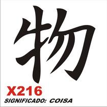 Adesivo X216 Ideograma Chinês Significado Coisa