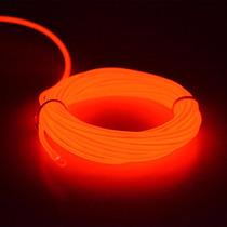 Fita Fio Linha Led Neon Luz Ambiente Moldável 3 Met Vermelho