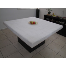 Comedor De Onix Color Blanco De 1.40x1.40 Para 8 Personas