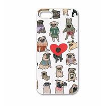 Funda Pugs Iphone Case Carcasa Perros Celular Corazón