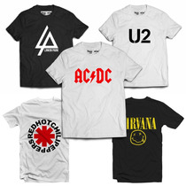 Camiseta Camisa Rock Bandas Nirvana Linkin Park Frete Grátis