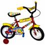Bicicleta Rodado 12 Nenes Ruedas Macizas De Alta Resistencia