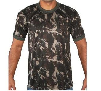 Camiseta Camuflada Dry Fit Exército Brasileiro - Tamanho M - R  19 ... 669fabbc9aa