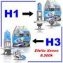 10 Pares Lampadas H1 H3 Super Branca Ef. Xenon Atacado R$16