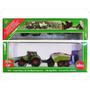 Tractor Con Enfardadora Claas Metalico 1852 Escala 1:87 Siku
