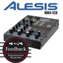 Alesis Mm4-usb - Mixer Usb 4 Canales Con Phantom Power