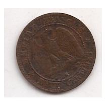 Francia Antigua Moneda 10 Centimes Año 1862 K Napoleon Iii