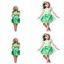 Fantasia Contos De Fada Verde Adulto E Infantil Mãe E Filha