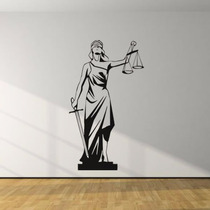 Adesivo Decorativo Deusa Da Justiça - Advocacia