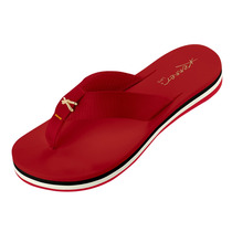 Sandália Feminina Kenner Lips Kyra Slim 4d Vermelha
