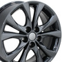 Juego De 4 Rines Negro Cromado Para Mazda 3 2004 - 2014