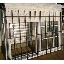 Ventana Aluminio Blanco 150x110 Repartido + Cortina + Reja