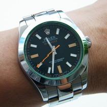 Relógio De Luxo Milgauss Dial Preto Automático Frete Grátis