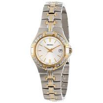 Seiko Mujeres Sxda42 Diamante De Dos Tonos Reloj