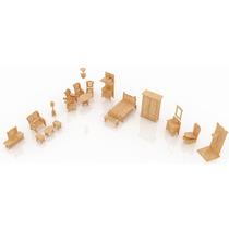 Muebles Miniatura Casa De Muñecas Mdf Kit Gmcm027