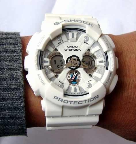 fa5ea8cfe7a Relógio Casio G-shock Ga-120a Branco Original Ga-120 Ga120 - R  529 ...