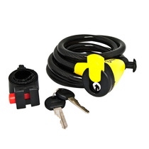 Cable Trenzado Con Candado Auvray Spl18012k 180cm Largo