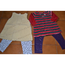 Lote Ropa Bebe Nena9-12meses:2vestidos Cheeky/grisino+calzas