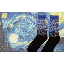 Calcetines De Moda Con Pinturas Famosas Van Gogh Mona Lisa