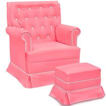 Giulia Com Balanço Poltrona Amamentar Cadeira Descanso Puff