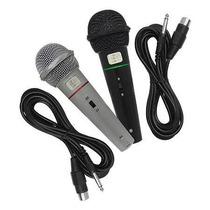Kit 2 Microfones Profissionais Mxt Ou Csr Com Fio + Cabos