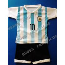 Camiseta De Argentina Bebe Messi Conjunto Remera Y Short