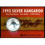 Moneda 1993 Canguro De Australia 1 Oz Troy .999 Plata Pura