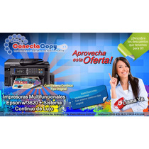 Impresora Multifuncional Epson Wf3620 Con Sistema Continuo