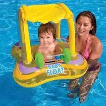 Boia Bote Inflável Para Bebê Crianças Com Cobertura