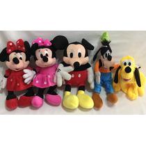 Pelúcias Disney - Minnie, Mickey, Pateta, Pluto, Donald Unid