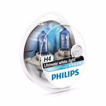 Lâmpadas Philips Diamond Vision 5000k Super Branca H4 Ou H7
