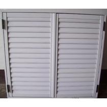 Postigo Celosía P/ Ventana 150x150 Aluminio Blanco 2 Hojas