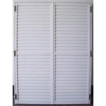 Postigo Celosía P/ Ventana 150x200 Aluminio Blanco 2 Hojas
