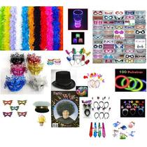 Kit Festa-200 Pulseiras Neon+70 Tiaras+70 Óculos+70 Marabus