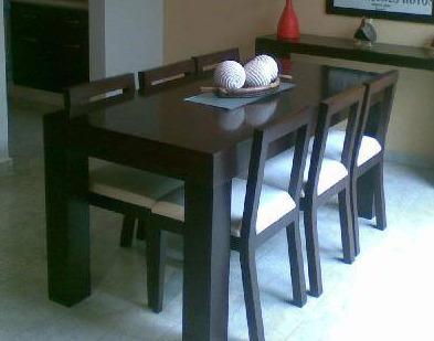 Mesa Enchapada Laqueada Comedor Moderna Madera 160x80 Cm. - $ 4.500 ...