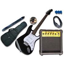 Guitarra Electrica Stratocaster + Amplificador De 15w Y Más