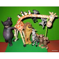 Adorno Para Torta De Madagascar 12 Personajes - Narartesana