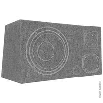 Caixa De Som Trio Dutada 15 Mdf Agl 60 Litros Carpete Cinza