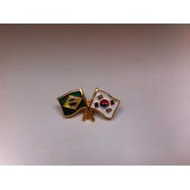 Pins Da Bandeira Do Brasil X Coréia Do Sul