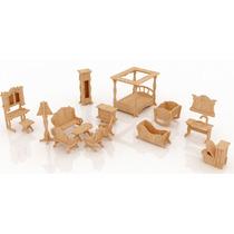 Muebles Miniatura Casa De Muñecas Mdf Kit Gmcm024