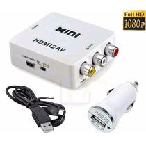 Mini Convertidor Señal Adaptador Hdmi - Rca Av Audio Video