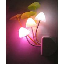 Nueva Luz Lampara De Noche 3 Led Elegante Rosa Importada E4f