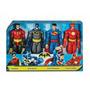 Set De Superman, Batman, Robín Y Flash Mattel De 30 Cm