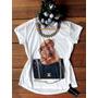Camiseta Feminina Cachorro Dog / C Pedras / Blusa / T-shirt