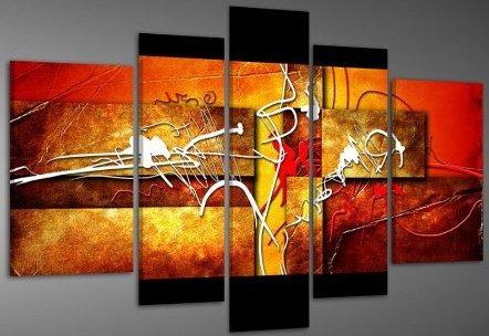 Cuadros abstractos modernos polipticos decorativos 80 - Cuadros decorativos para cocina abstractos modernos ...